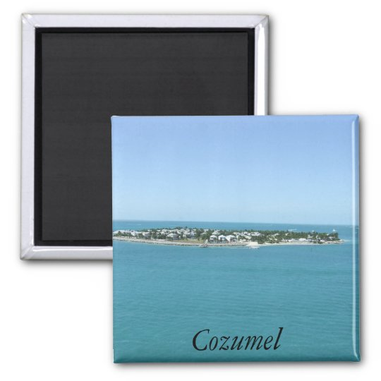Cozumel Island Blue Water Tropical Magnet
