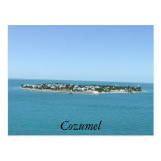 Cozumel Island Blue Water Tropical Postcard