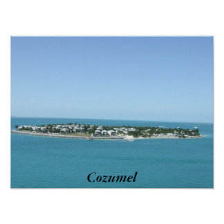 Cozumel Island Tropical Blue Water Poster