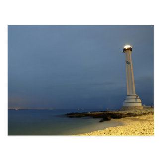Cozumel lighthouse postcard