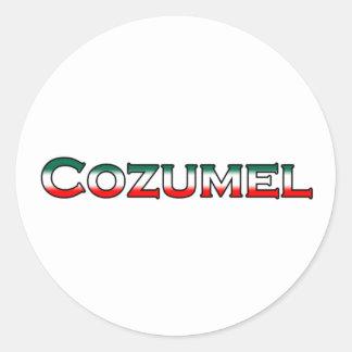 Cozumel Logo (text) Classic Round Sticker