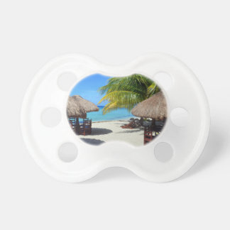 Cozumel Mexico Beach Hut Palm Tree Teal Water Vaca Pacifier