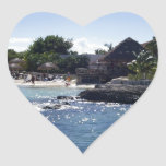 Cozumel, Mexico Heart Stickers