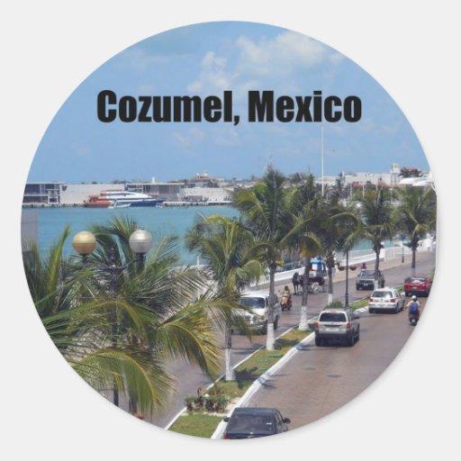 Cozumel, Mexico Round Sticker