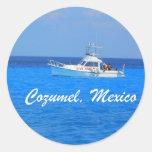 Cozumel, Mexico Round Stickers