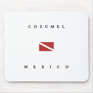Cozumel Mexico Scuba Dive Flag Mouse Pad
