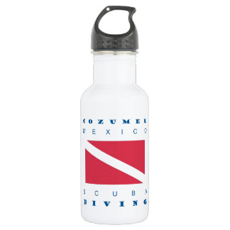 Cozumel Mexico Scuba Dive Stainless Steel Water Bottle
