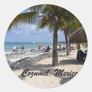 Cozumel Mexico Round Stickers