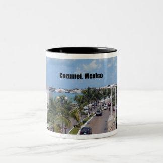 Cozumel, México Taza De Dos Tonos