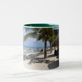 Cozumel, Mexico Two-Tone Coffee Mug