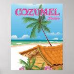 Cozumel Mexico Vintage travel poster print