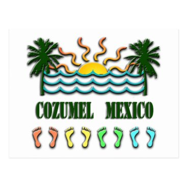 Beach Themed Cozumel Postcard