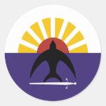 Cozumel, Quintana Roo, Mexico, Mexico flag Round Stickers