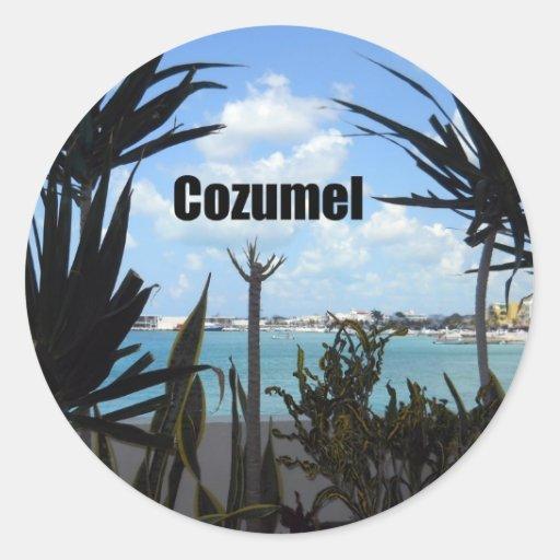 Cozumel Round Stickers