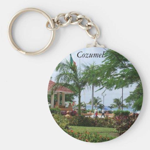 Cozumel Tropical Palm Tree Keychain