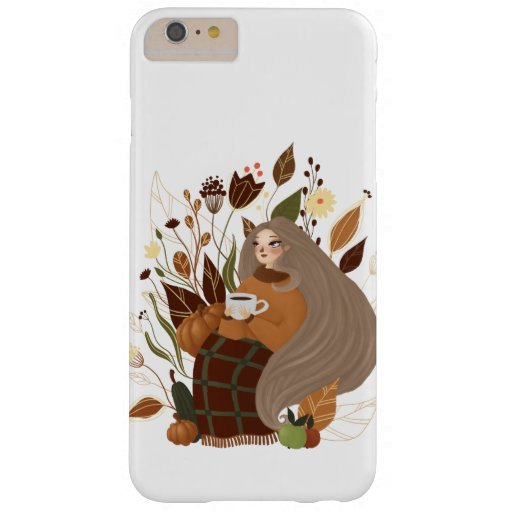 Cozy Autumn Girl Barely There iPhone 6 Plus Case