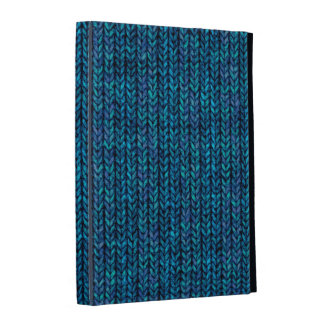 Cozy Blue Knit Wool Cover iPad Case