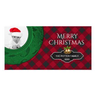 Cozy Buffalo Plaid | Red Checkered Holiday Photo Card