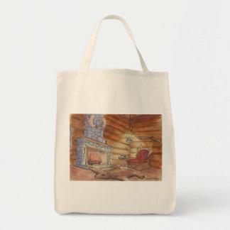 Cozy Cabin Canvas Bag