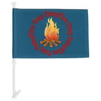 COZY CAMPFIRE CAR FLAG