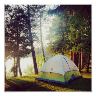 Cozy Campground Scene Posters