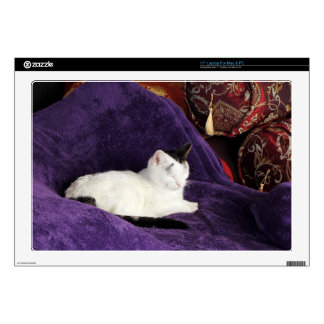 Cozy Cat Kitty Napping Happy Skins For Laptops