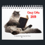 """Cozy Cats calendar 2019<br><div class=""""desc"""">For all lovers of cozy mysteries and cats--here is a Cozy Cats calendar for 2019.  Each month features a different &quot;cozy&quot; cat and all of the authors at Cozy Cat Press are listed along with their birthdays.</div>"""