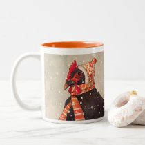 Cozy Chicken with Knit Hat Holiday Mug