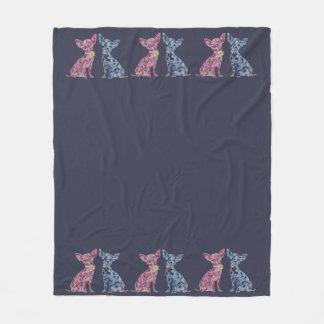Cozy Chihuahua Blanket featuring original Art
