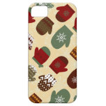 Cozy Christmas Holiday Winter Mittens iPhone Case iPhone 5 Covers