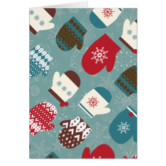 Cozy Christmas Mittens Card