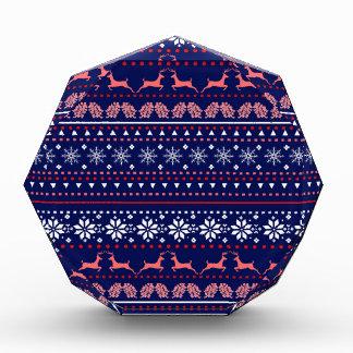 Cozy christmas pattern acrylic award