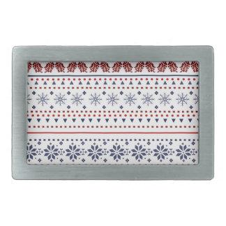 Cozy christmas pattern design belt buckle