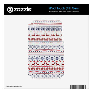 Cozy christmas pattern design iPod touch 4G skins