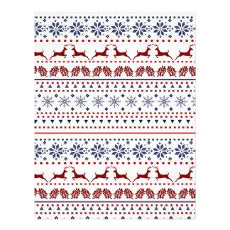 Cozy christmas pattern design letterhead