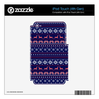 Cozy christmas pattern iPod touch 4G skins