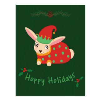 Cozy Christmas Rabbit Postcard