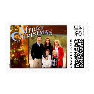 Cozy Christmas Scene Postage