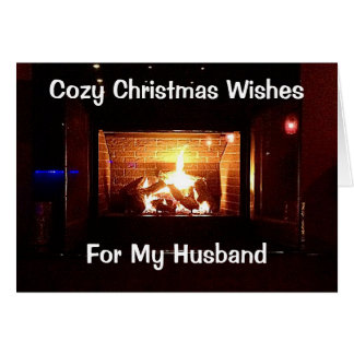"""COZY CHRISTMAS WISHES FOR MY """"HUSBAND"""" CARD"""