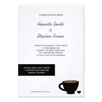 Cozy Coffee Love Casual Wedding Invitation