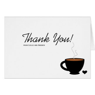 Cozy Coffee Love Thank You Note Card