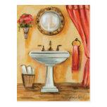 Cozy Contemporary Bathroom Postcard