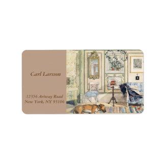 Cozy Corner by Carl Larsson Address Label