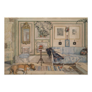 Cozy Corner by Carl Larsson Poster