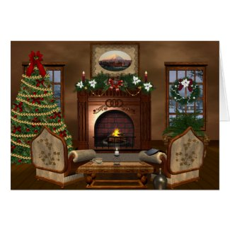Cozy Country Christmas Holiday Card
