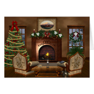 Cozy Country Christmas Holiday Greeting Card