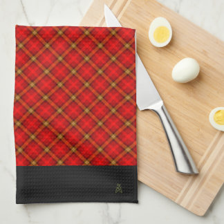 Cozy Country Red Plaid (Monogrammed) Hand Towels