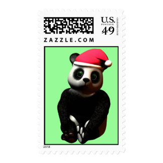 Cozy Cuddle Panda Bear Postage Stamps