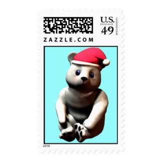 Cozy Cuddle Polar Bear! Postage Stamps