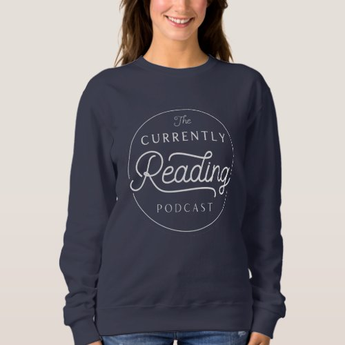 Cozy Currently Reading Navy Sweatshirt